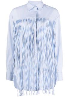 Pinko fringe detail shirt