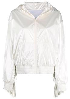 Pinko fringe-trim rain jacket