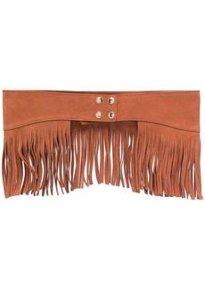 Pinko fringed-edge leather belt