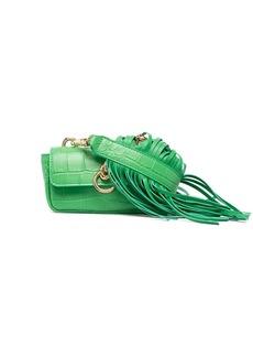 Pinko fringed croc-effect mini bag