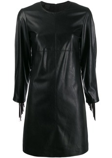 Pinko fringed faux-leather dress