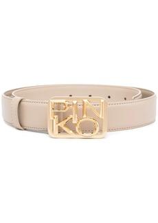 Pinko gold logo-buckle belt