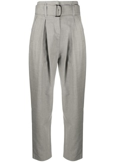 Pinko high-rise belted tailored trousers