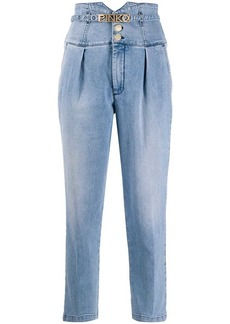 Pinko high-rise cropped jeans