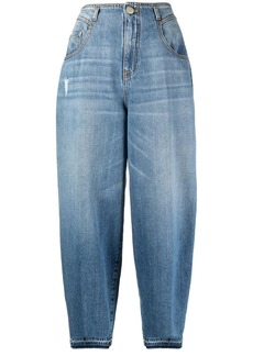 Pinko high-waisted balloon-leg jeans