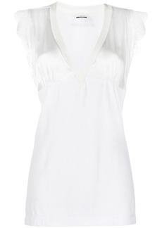 Pinko lace-trim blouse