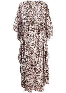 Pinko leopard-print long dress