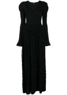 Pinko long-sleeve evening dress