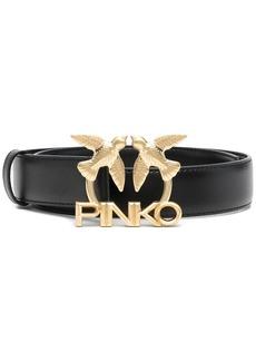 Pinko Love Birds logo-buckle belt
