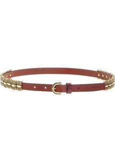Pinko metallic plaque belt