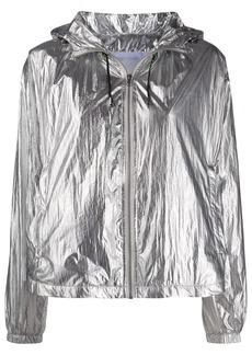 Pinko metallic-print hooded jacket