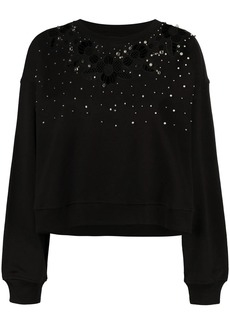 Pinko pearl-embellished sweatshirt
