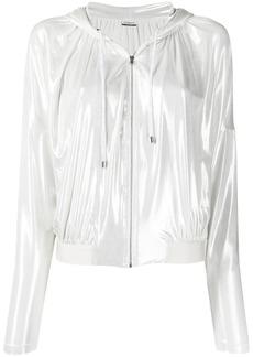 Pinko pearlescent hooded jacket