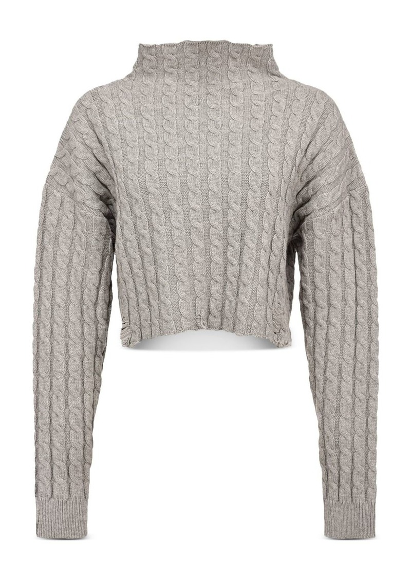 PINKO Cable Knit Cropped Sweater