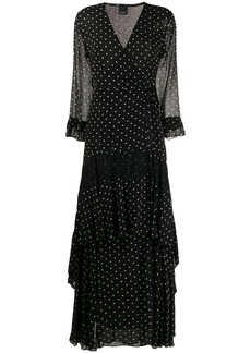 Pinko polka-dot wrap dress