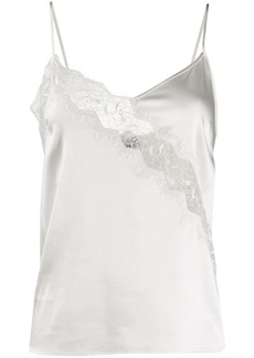 Pinko scalloped lace slip vest
