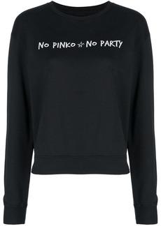 Pinko slogan logo print sweatshirt