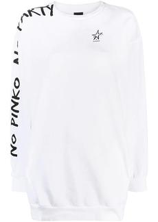 Pinko slogan-print sweatshirt dress
