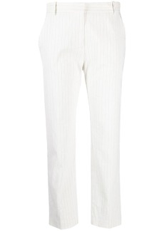 Pinko striped linen-blend trousers