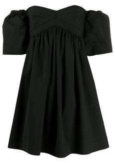 Pinko sweetheart neck off-shoulder dress