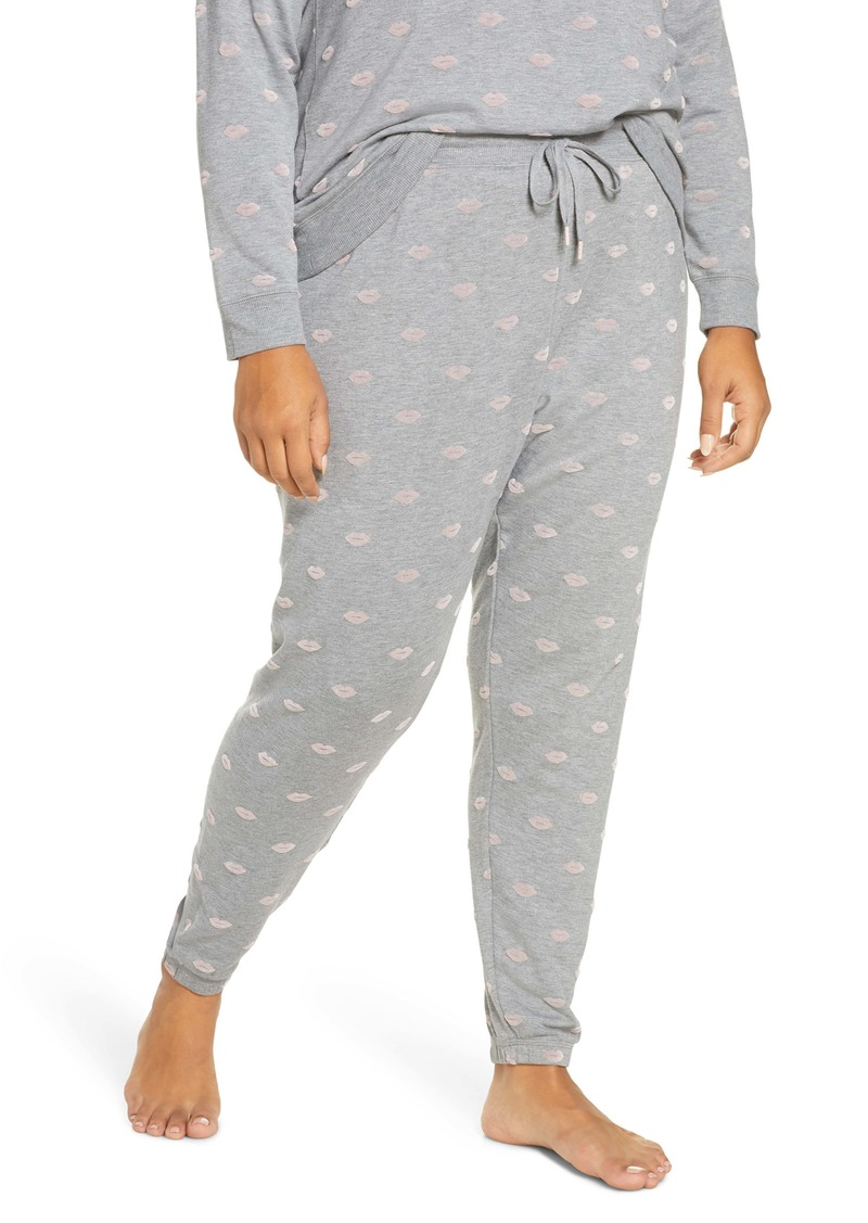 PJ Salvage Amour Flocked Kiss Print Pants