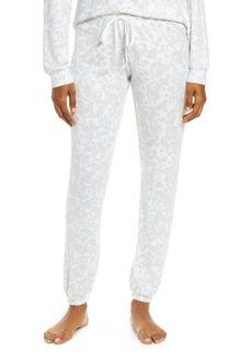 PJ Salvage Ciao Stripe Leopard Print Sweatpants