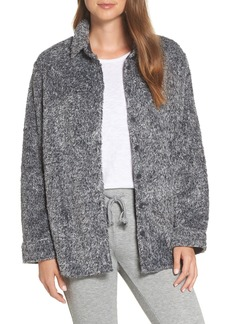 PJ Salvage Cozy Faux Fur Button Front Shirt