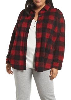 PJ Salvage Cozy Faux Fur Shirt (Plus Size)