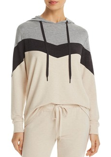 PJ Salvage French Terry Color-Blocked Chevron Hoodie