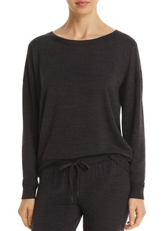 PJ Salvage French Terry Raw-Edge Top