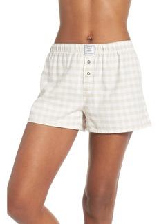 PJ Salvage Gingham Pajama Shorts