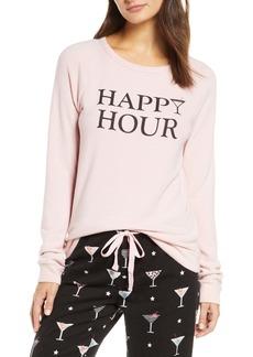 PJ Salvage Happy Hour Flannel Pajama Top