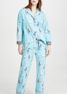 PJ Salvage Happy Llamakah Flannel PJ Set