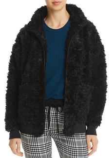 PJ Salvage Jewel Night Fuzzy Sherpa Jacket