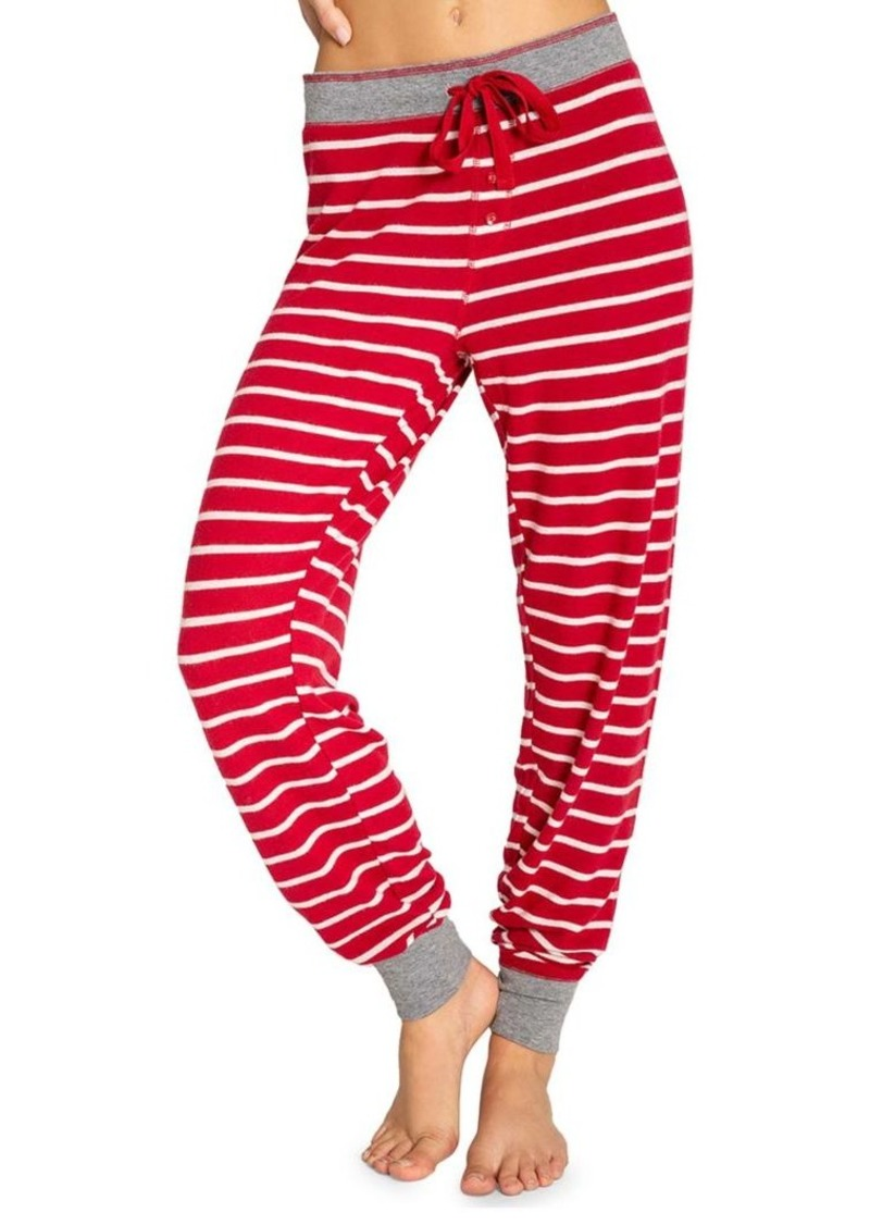 Pj Salvage Joyful Heart Striped Pants