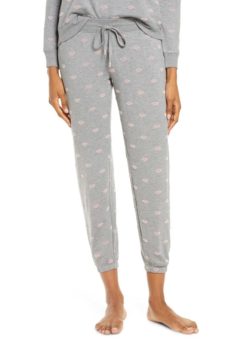PJ Salvage Lip Print Jogger Pajama Pants