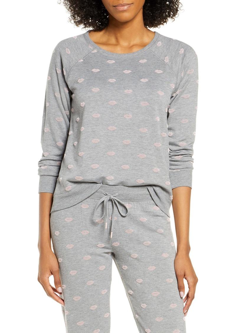 PJ Salvage Lip Print Pajama Top