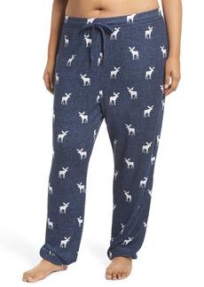 PJ Salvage Moose Print Banded Pajama Pants (Plus Size)