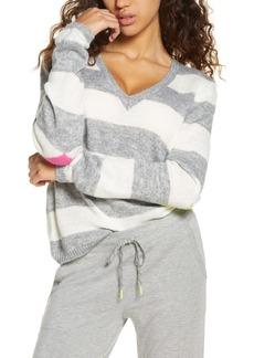 PJ Salvage Neon Pop Stripe Pullover