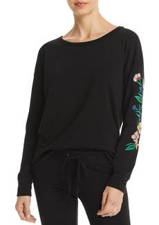 PJ Salvage Peachy Jersey Knit Embroidered Top