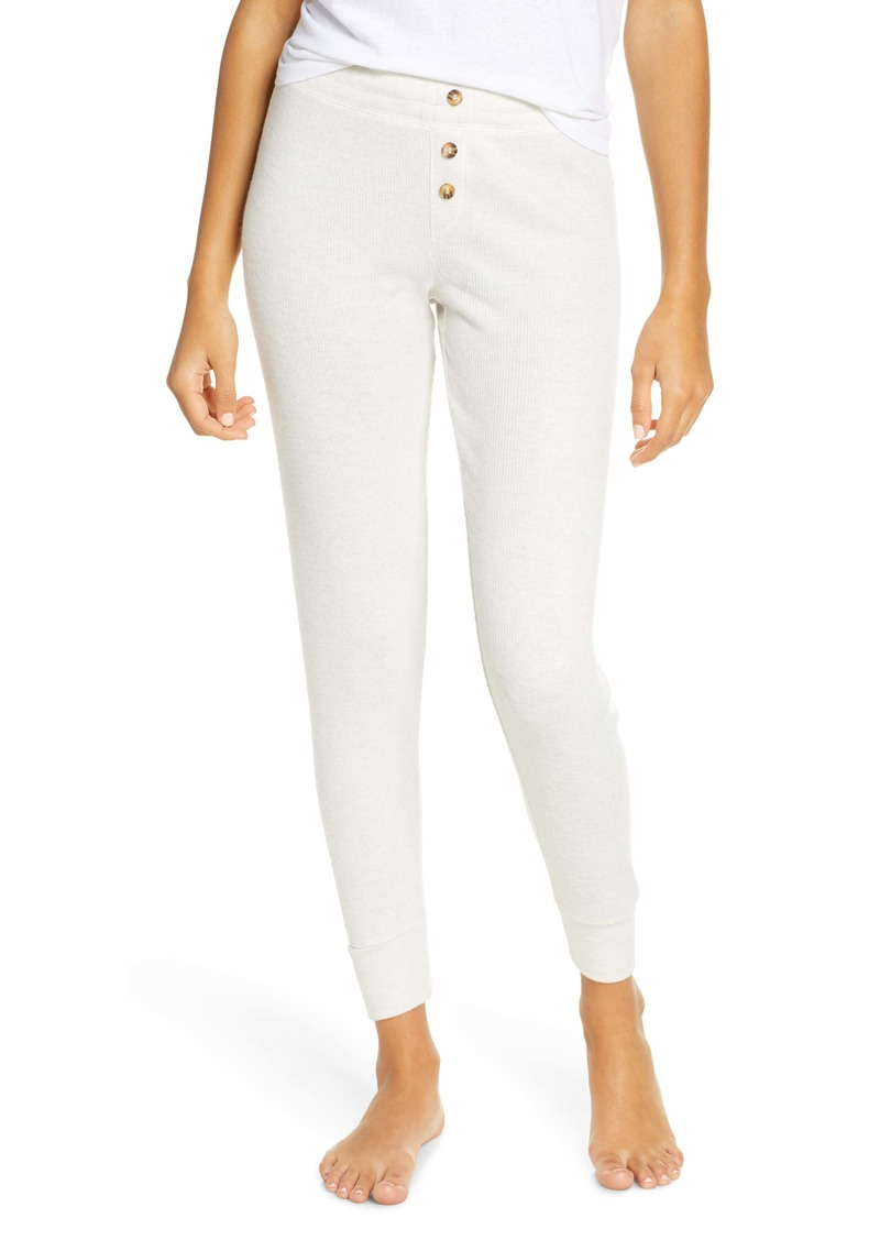 PJ Salvage Peachy Ribbed Lounge Pants