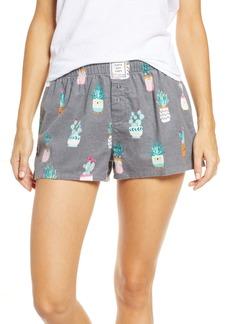 PJ Salvage Print Flannel Pajama Shorts