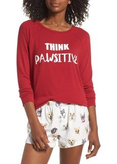PJ Salvage Print Flannel Short Pajamas