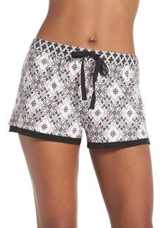 PJ Salvage Print Stretch Modal Lounge Shorts