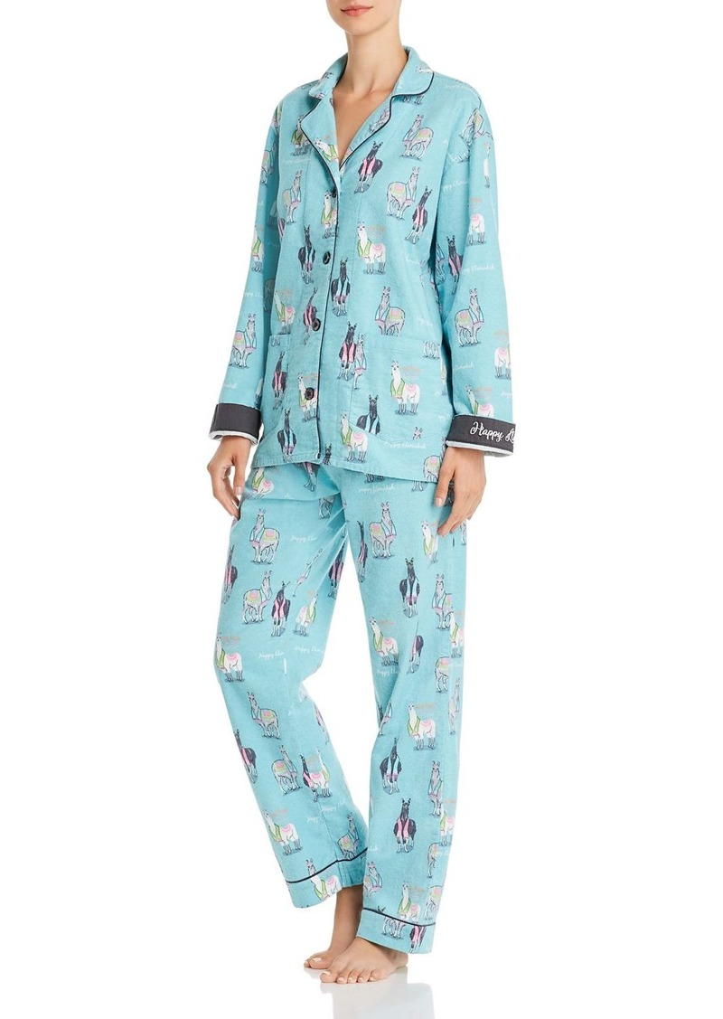 PJ Salvage Printed Flannel Pajama Set