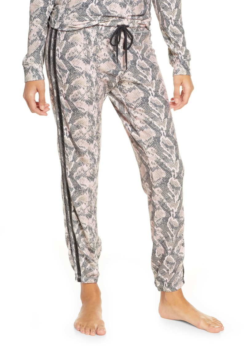 PJ Salvage Snake Print Jogger Pajama Pants