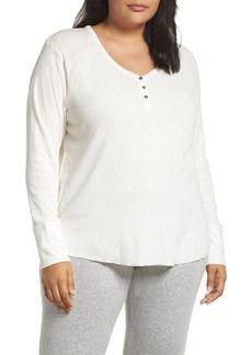 PJ Salvage Thermal Henley Pajama Top (Plus Size)