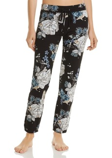PJ Salvage Track Star Floral-Print French Terry Pants