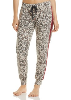 PJ Salvage Wild Heart Leopard-Print French Terry Pants