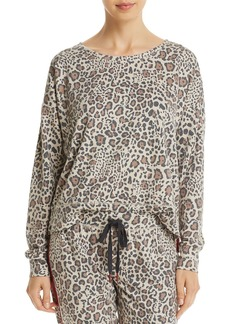 PJ Salvage Wild Heart Leopard-Print French Terry Top